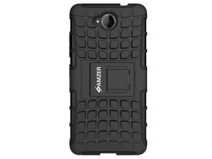 AMZER BLACK HYBRID WARRIOR CASE COVER WITH COLLAPSIBLE STAND FOR MICROSOFT LUMIA 650