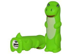 Gadget Gear 2600mAh Dinosaur Portable Power Bank Charger External Battery  - Green