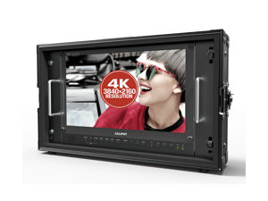 Lilliput BM150-12G 15.6 inch 3840*2160 12G SDI 4K Monitor Carry-on Broadcast Monitor HDMI TALLY for Camera 12G-SDI Single-Link with V-mount plate by VIVITEQ INC