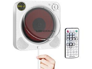CD Player with Bluetooth, MONODEAL Portable Rechargeable CD Player with Built-in Speakers, CD Player for Car, Wall CD Player for Home (with Remote Control and Dust Cover)