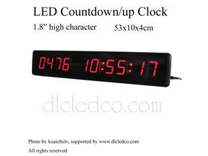 """1.8"""" High Character LED Countdown/up Clock Count up to 9999 days with Hours Minutes Seconds IR Remote Control"""