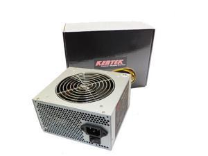 KENTEK 650W 120mm Fan ATX 600W Gray SATA PCIE Power Supply Quiet Dual 12V Rails