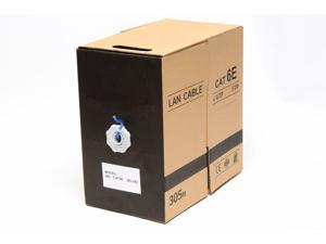 1000FT Cat6e LAN Ethernet Cable / Pull Box UTP Cat-6e Solid Network Wire Blue