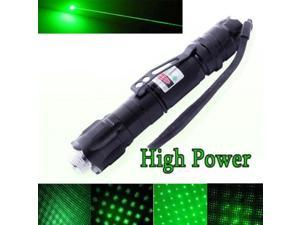 10 Miles Range 532nm Green Laser Pointer Light Pen Visible Beam High Power Lazer