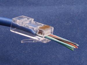 100Pcs CAT6 Plug EZ RJ45 Network Cable Modular 8P8C Connector End Pass Through
