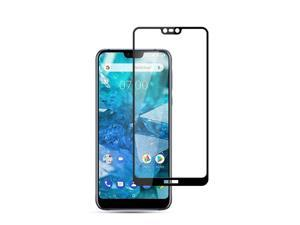 AMZER 9H 2.5D Tempered Glass Screen Protector for Nokia 7.1 - Black