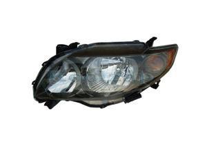 For 09-10 Corolla CE LE XLE Headlight Headlamp Head Light Lamp Left Driver DOT