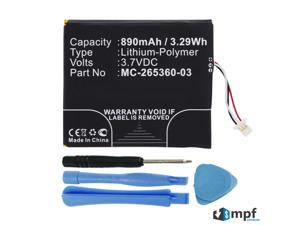 """Replacement 890mAh MC-265360-03, 58-000083 Battery for Amazon Kindle 7, Kindle 7th Generation WP63GW 6"""" E-Reader with Installation Tools"""