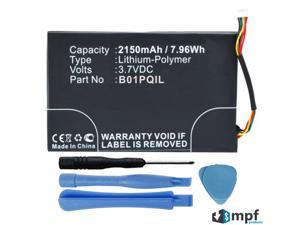 High Capacity 2150mAh B01PQIL Battery Replacement for Barnes & Noble Nook Glowlight BNRV500 eReader with Installation Tools