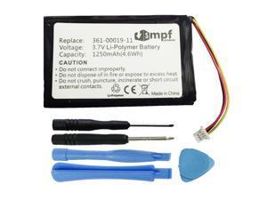 Replacement 1250mAh 361-00019-11, 361-00019-13, 010-00621-10 Battery for Garmin Nuvi 200, Nuvi 205, Nuvi 250, Nuvi 252, Nuvi 255, Nuvi 260, Nuvi 265, Nuvi 270 GPS Units