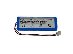 Replacement 400mAh DC-1, BP12RT, BP-RR, BP-12, 28AAAM4SMX, 30AAAM4SMX, 40AAAM4SMX, AAAM4SMX, ACNMH101, GPRHC043M016 Battery for Dogtra Dog Collar Transmitters and Receivers