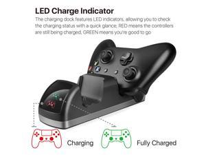 OSTENT Dual Dock Charger Charging Station + 2 Rechargeable Battery for Xbox One/S/X Controller
