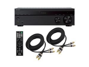 Sony STRDH190 2 Channel Stereo Receiver Phono Inputs and Bluetooth with 2 RCA Cables Combo