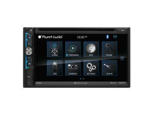 Planet Audio P9695B Double-DIN Stereo Receiver DVD Player 6.75 Touchscreen