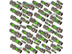 50 pack BNC Compression Connector Adapter for RG59 Coax Cable CCTV Camera