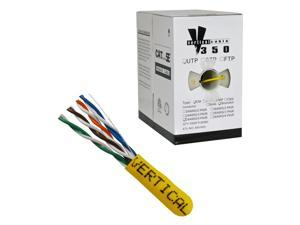 CAT-5E UTP 1000 8-Conductor Bulk Yellow-PVC Jacket Stranded AWG24 Solid-Bare Copper UL-ETL Cable
