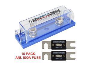 Install Bay ANLFH-10 10-Pack Nickel Plated ANL Fuse Holder
