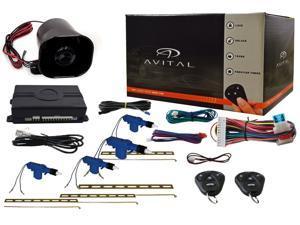 Avital 3100L 1-Way Car Security System Alarm Keyless Entry w/ Door Lock Actuator