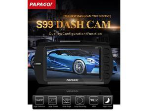PAPAGO S99 PPG8031 4.0 MP Image Sensor 1440P 2.7 inch LCD Display Cycle Recording Motion Detection Temperature Protection 178 Degree Wide Angle Lens Car DVR Dash Cam Video Recorder with WD - Black
