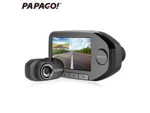 "PAPAGO Gosafe360 2.7"" LCD Screen Dual Lens 1080P Car DVR with Front 160 Degree and Rear 120 Degree Cams HD Night Vision Support External GPS - Black"