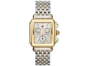 Michele Signature Deco Mother of Pearl 18kt Yellow Gold-plated Watch MWW06P0001
