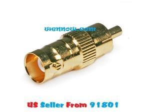 WennoW BNC Female to RCA Male Adaptor - Gold Plated w15
