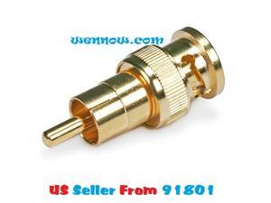 WennoW BNC Male to RCA Male Adaptor - Gold Plated