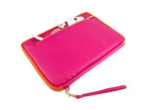 VanGoddy Magenta with Orange Trim Irista Sleeve Case for 8.9 to 10.1 inch Devices