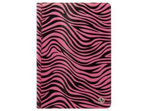 VanGoddy Pink and Black Zebra Mary Portfolio Book Style Case Smart Cover for Apple iPad Air