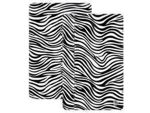 Black/White Zebra VanGoddy Mary Portfolio Case for 11in MacBook Air