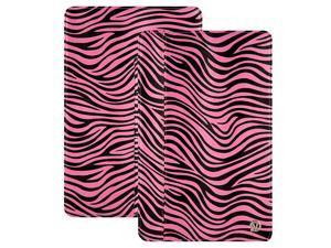 Pink/Black Zebra VanGoddy Mary Portfolio Case for 11in MacBook Air