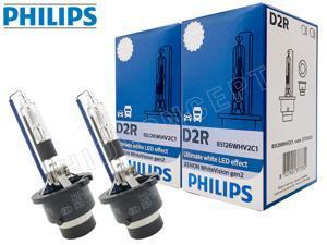 D2R – PHILIPS 5000K White Vision Gen2 +120% 85126WHV2 HID BULBS   PACK OF 2