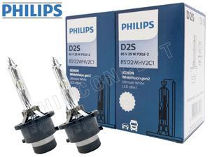D2S - Philips HID White Vision 5000K 85122WHV2C1 Bulbs (Pack of 2)