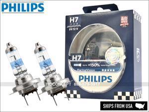 New! Authentic Philips Racing Vision H7 +150% 12972RVS2 Halogen Headlight bulbs