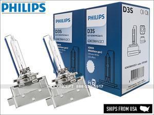 D3S PHILIPS WHITE VISION 5000K 42403WHV2C1 HID XENON BULBS +120% Light 35W