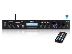 Home Theater Amplifier Audio Receiver Sound System with Bluetooth Wireless Streaming, MP3/USB/SD/AUX/FM Radio (200 Watt) (PDA7BU)