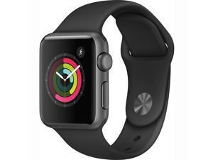 Apple Watch Series 1 38mm Smartwatch (Space Gray Aluminum Case, Black Sport Band)