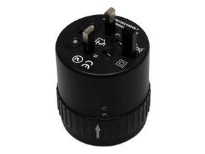 MaximalPower BLACK Travel Plug Power Outlet Socket Universal Adapter Converter for US, UK, EU, AU Countries