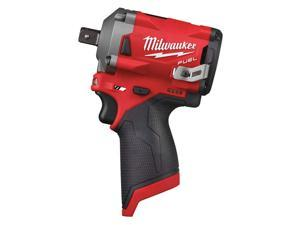 Milwaukee Electric Tool - 2555P-20 - Milwaukee 2555P-20 M12 FUEL 1/2 Stubby Impact Wrench w/ Pin Detent
