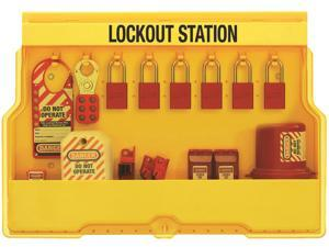 Lockout Station, Filled, Electrical, 6 Locks