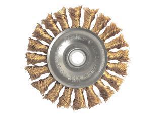 WEILER 93808 Twist Wire Wheel Wire Brush, Threaded Arbor