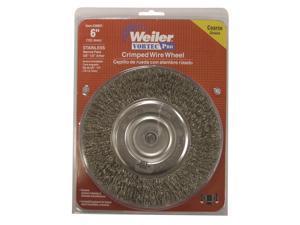 6mmx75mm Brass T Shaped Crimped Wire Wheel Brush Buffing Polishing Tool 2pcs