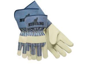Memphis Mustang Leather Palm Gloves Blue/Cream Extra Large Dozen 1935XL
