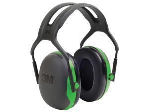 3M - X1A - 22dB Over-the-Head Ear Muffs, Black, Green