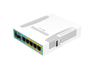 MikroTik - RB960PGS - RouterBOARD hEX PoE with 800MHz CPU, 128MB RAM, 5x Gigabit LAN ports (4x with PoE Out), USB,