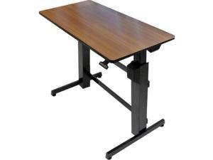Ergotron WorkFit D Sit-Stand Workstation 47 5/8 x 23 1/2 x 50 5/8 Walnut/Black