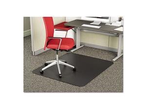 Deflect-O - CM14242BLK - SuperMat Frequent Use Chair Mat, Medium Pile Carpet, Beveled, 45 x 53, Black