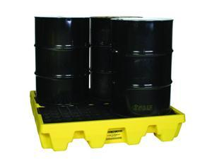 Eagle Mfg - 1645 - Eagle Yellow High Density Polyethylene 8000 lb 66 gal Spill Pallet - Supports 4 Drums - 51 1/2 in