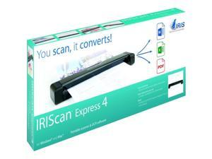 IRIS - 458511 - IRIS Iriscan Express 4-Usb Portable Scanner That Scans Anything - 8 ppm (Mono) - 8 ppm (Color) - USB