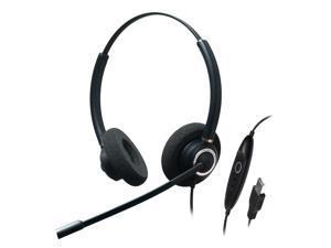 Addasound - CRYSTAL-SR2832RG - Dual Ear, Stereo, Adv Noise Cancel USB
